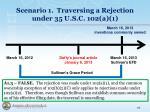 scenario 1 traversing a rejection under 35 u s c 102 a 17