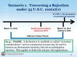 scenario 1 traversing a rejection under 35 u s c 102 a 19