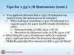 tips for 1 55 1 78 statements cont2