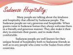 sudanese hospitality