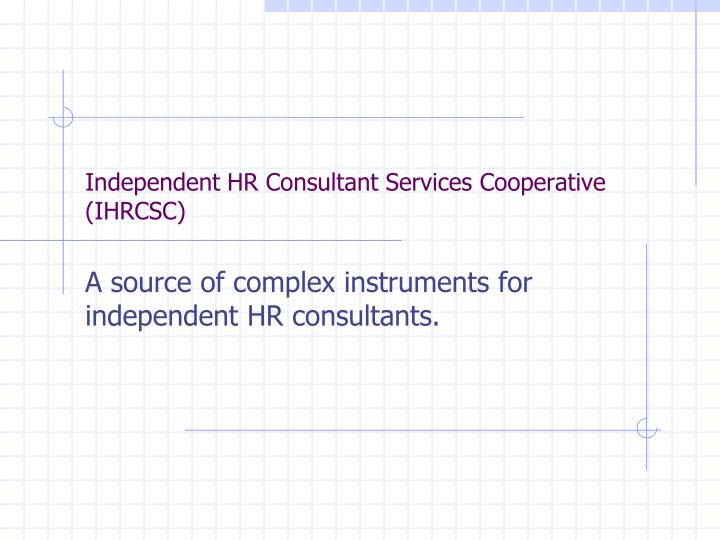 independent hr consultant services cooperative ihrcsc n.