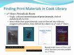 finding print materials in cook library3
