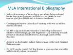 mla international bibliography