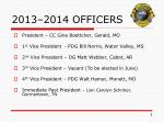 2013 2014 officers