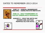 dates to remember 2013 2014