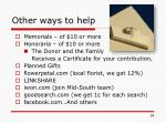 other ways to help1