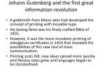 johann gutenberg and the first great information revolution