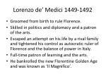 lorenzo de medici 1449 1492