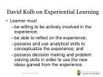 david kolb on experiential learning
