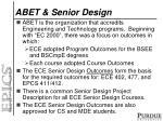 abet senior design