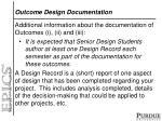 outcome design documentation
