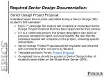 required senior design documentation