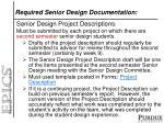 required senior design documentation1