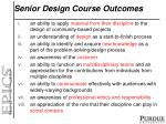 senior design course outcomes