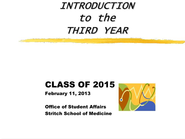introduction to the third year n.