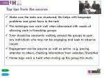 top tips from the session