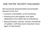 and softer security challenges