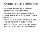 specific security challenges