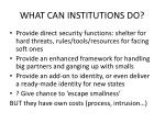 what can institutions do