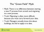 the green field myth