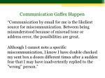 communication gaffes happen