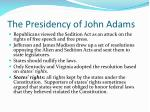 the presidency of john adams2