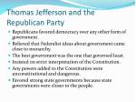 thomas jefferson and the republican party2