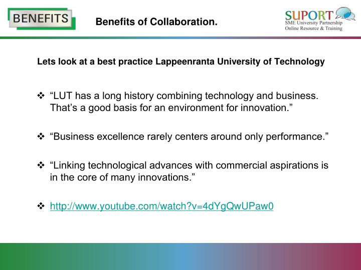 Collaborative Teaching Benefits ~ Ppt benefits for hei collaborating with sme powerpoint