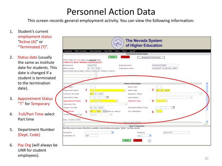 Personnel Action Data