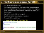 4 configuring a database for cdc