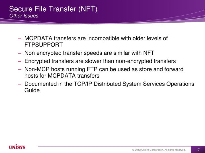 Secure File Transfer (NFT)