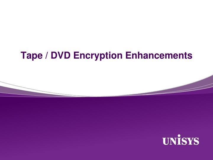 Tape / DVD Encryption Enhancements