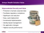unisys stealth solution value