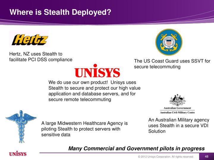 Where is Stealth Deployed?