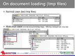 on document loading tmp files