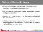 stature of hangul in korea