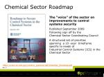 chemical sector roadmap