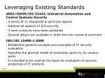 leveraging existing standards