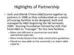 highlights of partnership
