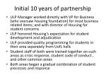 initial 10 years of partnership1