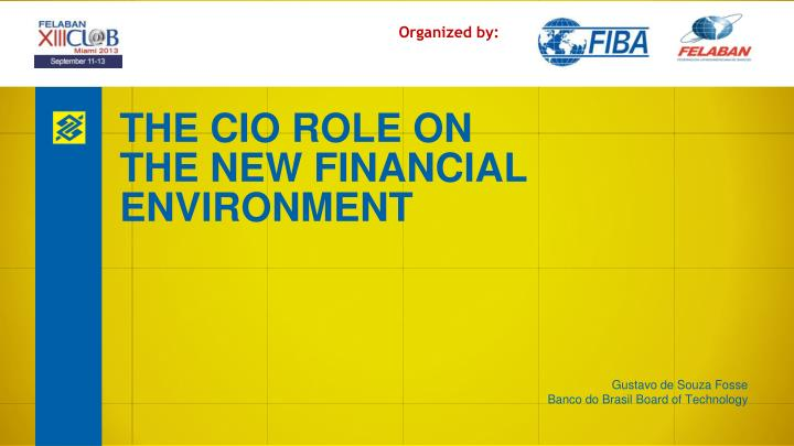 the changing role of cios