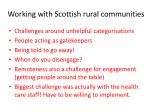 working with scottish rural communities