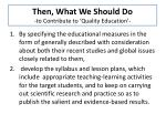then what we should do to contribute to quality education