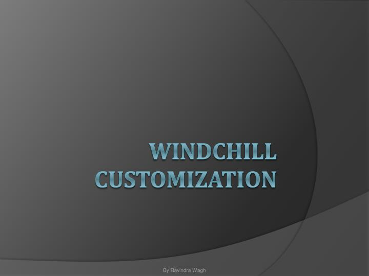 windchill customization n.