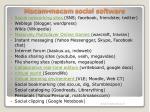 macam macam social software