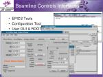 beamline controls interfaces
