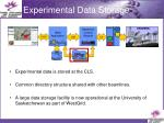 experimental data storage