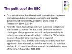 the politics of the bbc