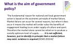 what is the aim of government policy