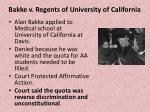 bakke v regents of university of california